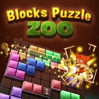Блоки головоломки зоопарку